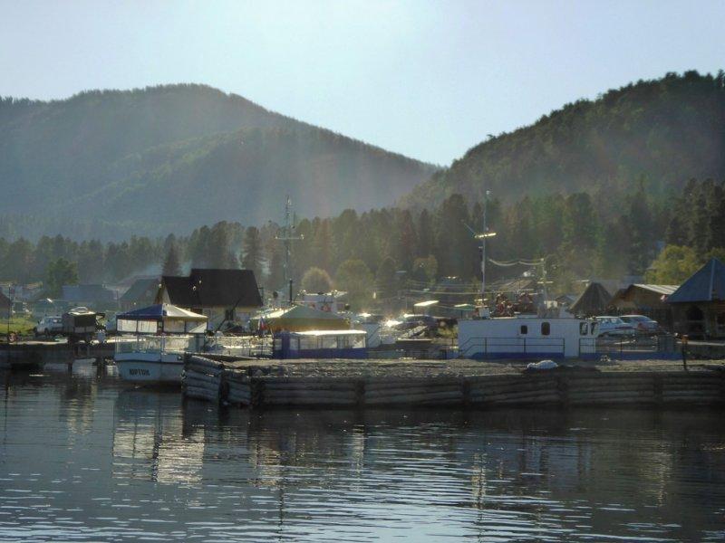 Пристань на Телецком озере