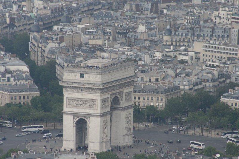 Вид сверху на арку