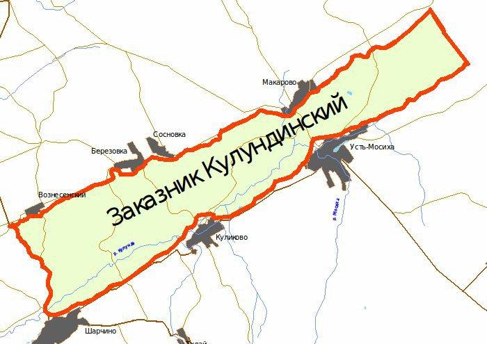 Фото: Схема Кулундинского заказника / tigirek.ru
