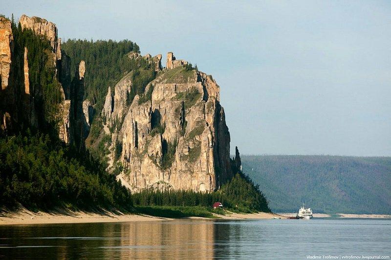 Каменный лес на реке Лена в Сибире - фото 10