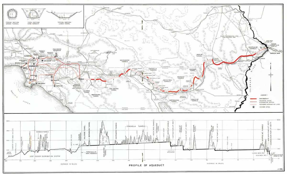 Карта реки Колорадо