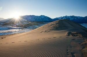 Рассвет в Чарской пустыне