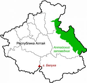 Территория Алтайского заповедника