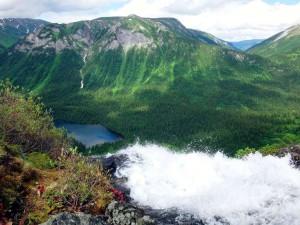 Вид с верхней точки Кинзелюкского водопада