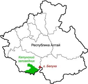 Территория Катунского заповедника на Алтае