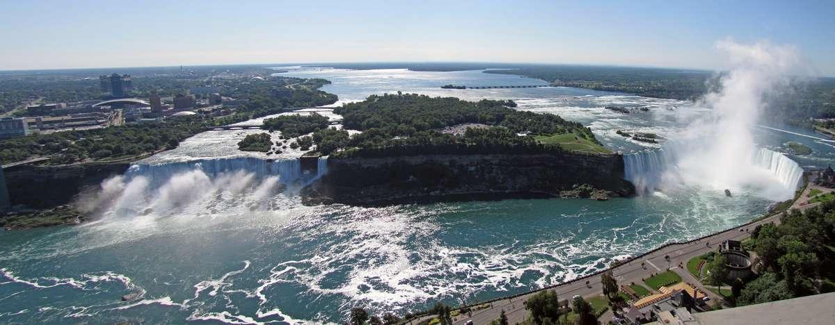 Панорама Ниагары - Американский и Канадский водопад, Ниагарский водопад, Онтарио, Канада