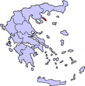 Гора Афон на карте