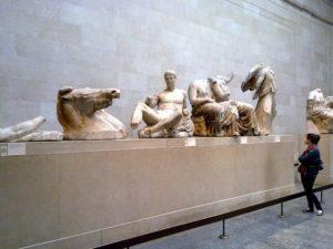 Воссоздание западной части Парфенона в Британском музее