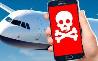 Почему нельзя пользоваться телефоном в самолете