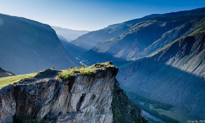 Красивый вид в горах Алтая