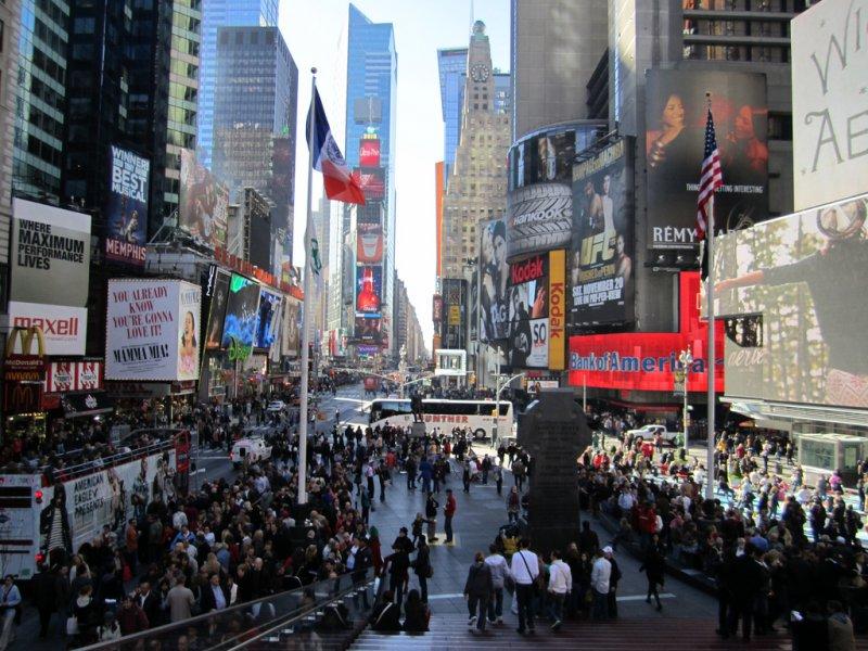 Площадь Таймс-Сквер, США, Нью-Йорк