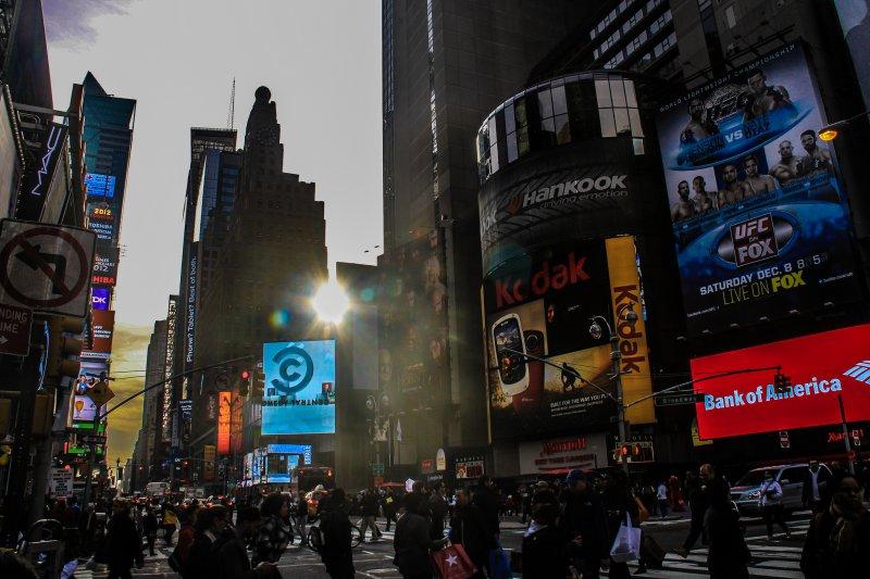 Красивый вид на Таймс-Сквер