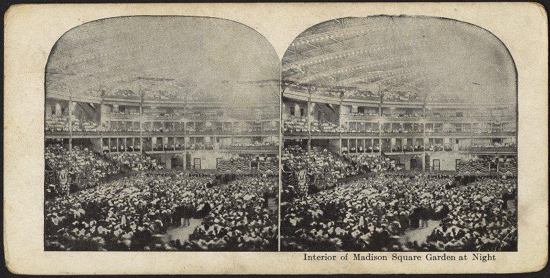 Интерьер Мэдисон Сквер Гарден, 1920 г.