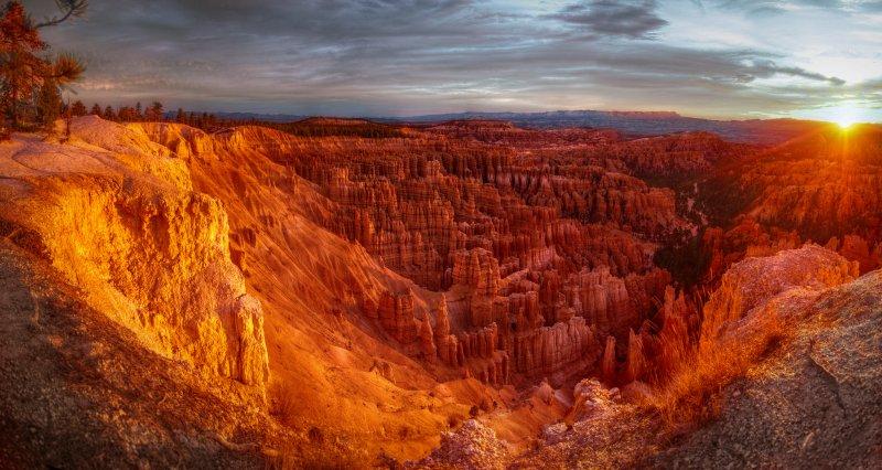 Вид на каньон Брайс