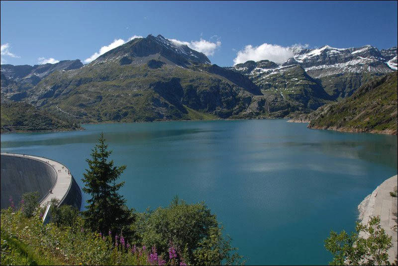 Озеро Барберин в Альпах