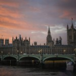 Мост на закате в Лондоне
