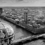 Вид на город с Лондонского глаза