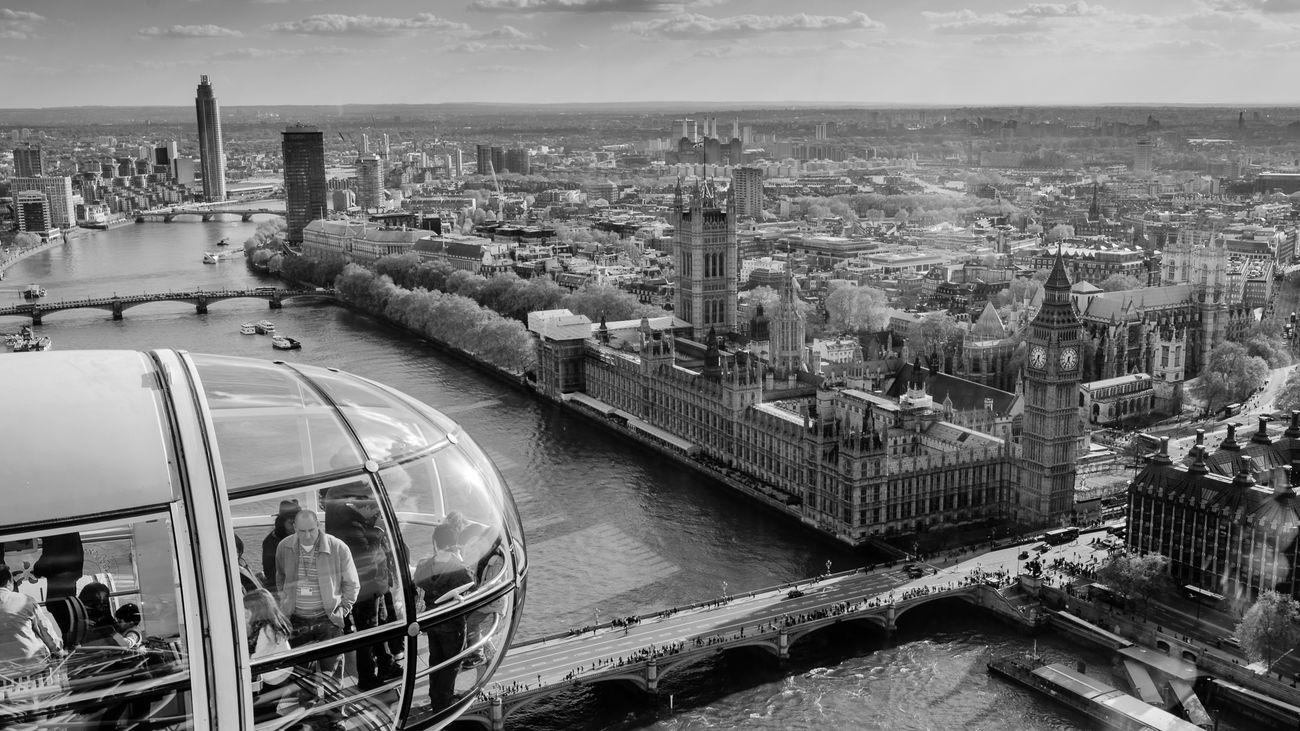 Вид с аттракциона «Лондонский Глаз»