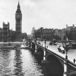 Старая фотография знаменитого моста и Биг-Бена