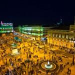 Ночной вид на Пуэрта-дель-Соль, Мадрид