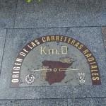 Нулевой километр на площади Пуэрта-дель-Соль в Мадриде