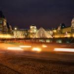 Вечерний вид на Лувр, Париж