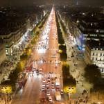Ночной вид на знаменитый проспект
