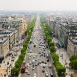 Вид с Триумфальной арки в Париже, Франция