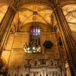 Интерьер собора в Барселоне