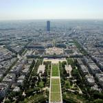 Марсово Поле, Париж - вид с Эйфелевой башни