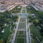 Вид на великий парк Парижа