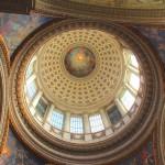 Вид купола внутри Пантеона, Париж