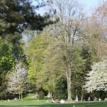 Отдыхающие в парижском парке
