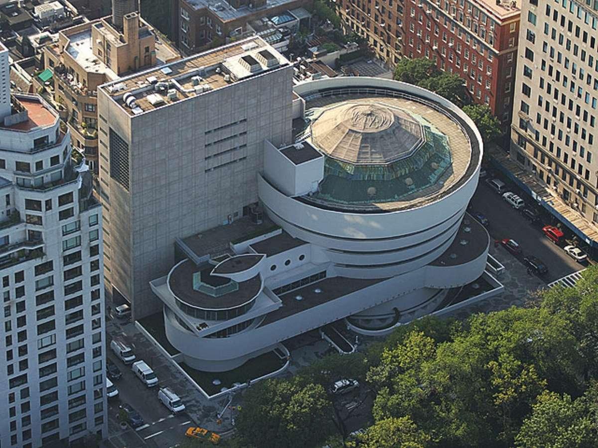 Вид на здание музея с высоты птичьего полета