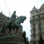Статуя в Готическом квартале Барселоны
