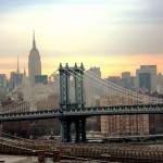 Вид сверху на Манхэттенский мост