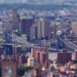Манхэттенский мост с высоты птичьего полета