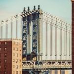 Манхэттенский мост - вид с улицы Нью-Йорка