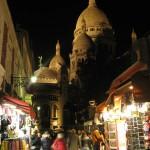 Сувенирные магазинчики рядом с базиликой Сакре-Кер