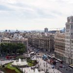 Вид на площадь Каталонии сверху