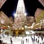 Рождество, катания на коньках в Рокфеллеровский центре