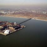 Вид с высоты птичьего полета на остров, Нью-Йорк
