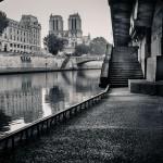 Вид с набережной на Нотр-Дам, Париж