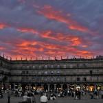 Закат на Пласа-Майор, Мадрид, Испания