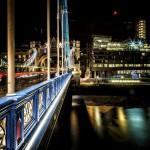 Вид с Тауэрского моста ночью