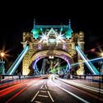 Огни Тауэрского моста ночью
