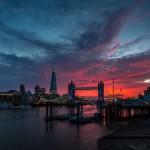 Закат в Лондоне - Темза и Тауэр Бридж