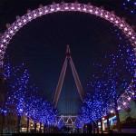 Огни Лондонского глаза, ночной Лондон