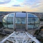 Вид на Лондон с самой высокой точки Лондонского глаза