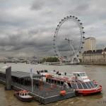 Лондонский глаз и Темза